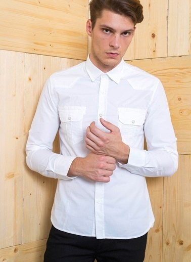 Cazador Gömlek Beyaz